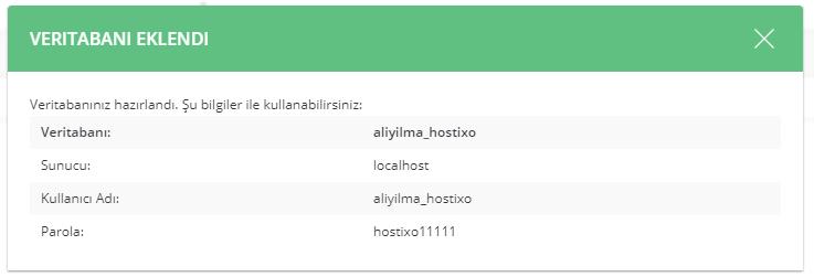 DirectAdmin Hosting MySQL Veritabanı Oluşturma ve Yönetme 8