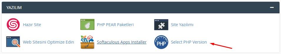 cPanel Üzerinden PHP Sürümü Değiştirme 1