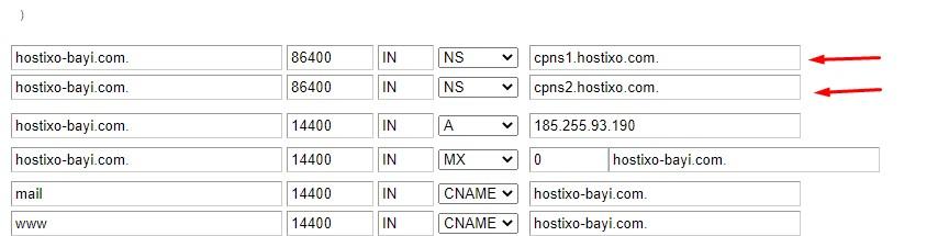 WHM Panelde Özel DNS Ayarları Girmek 4