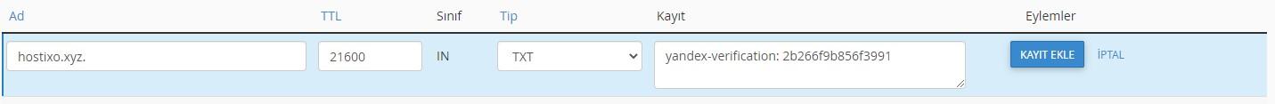 Yandex Connect Domain Ekleme ve E-posta Oluşturma 7