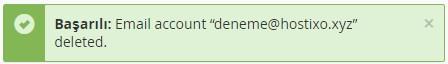 cPanel Domain Mail Hesabı Silme 3