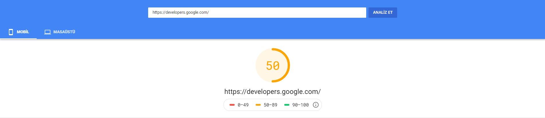 web sitesi hız testi 2