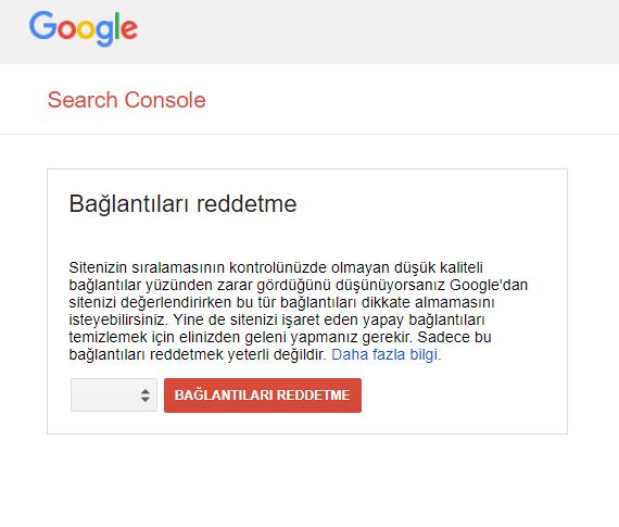 spam score google Disavow